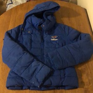 Blue Hollister coat size small